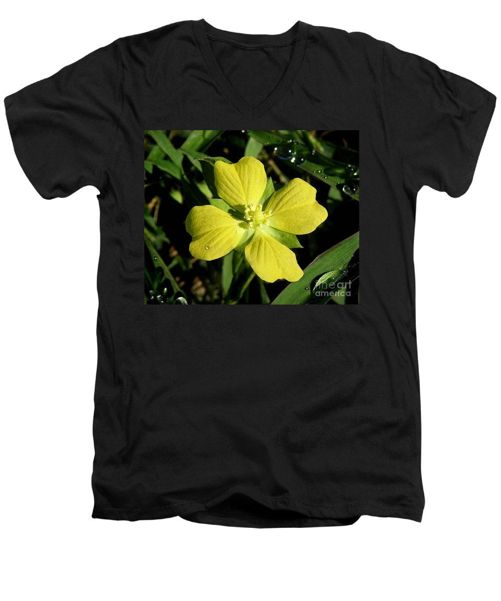 Nature Men's V-Neck T-Shirt featuring the photograph Nature In The Wild - Kissed By The Sun by Lucyna A M Green
