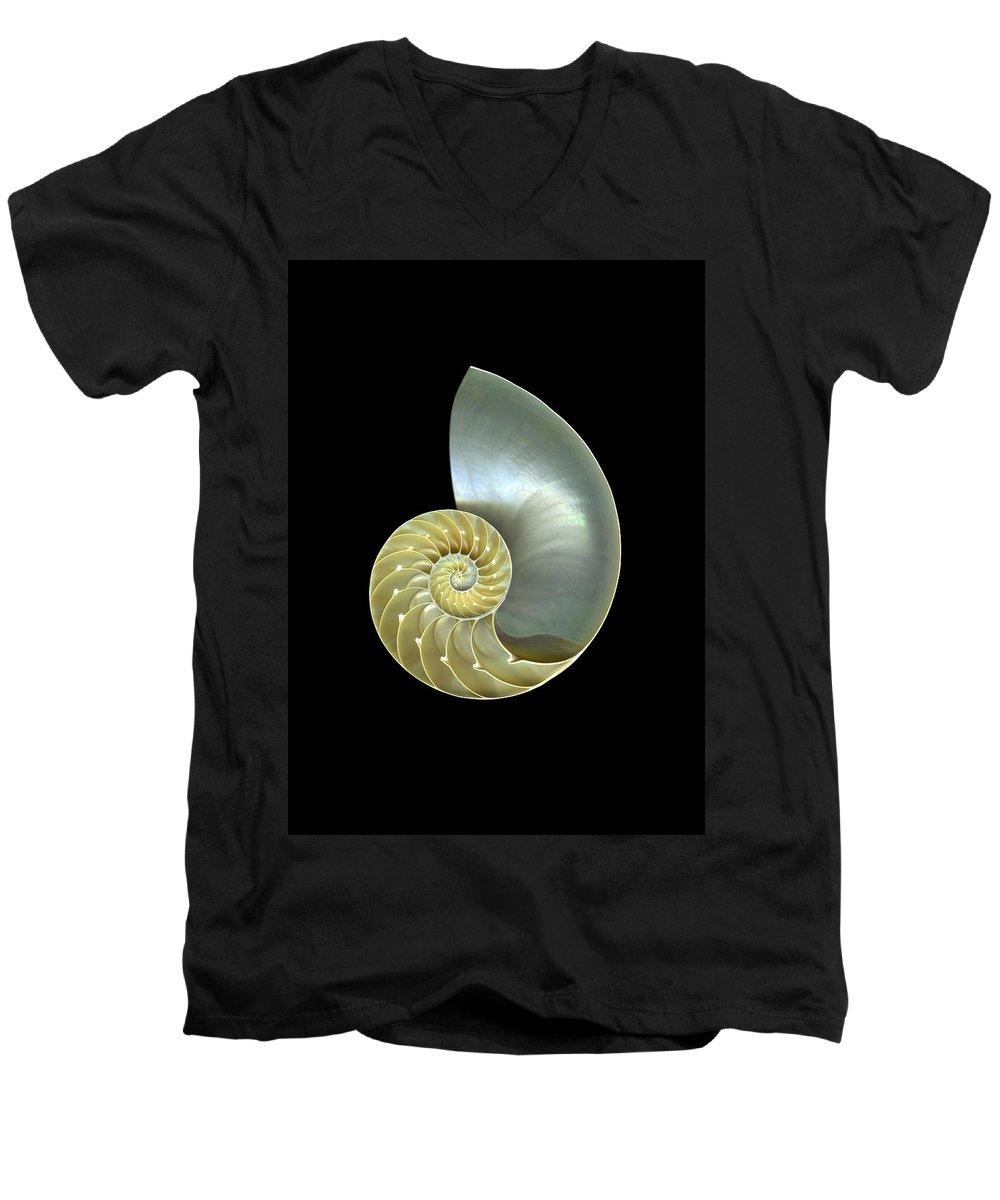 Slanec Men's V-Neck T-Shirt featuring the photograph Nautilus Nr.1 by Christian Slanec