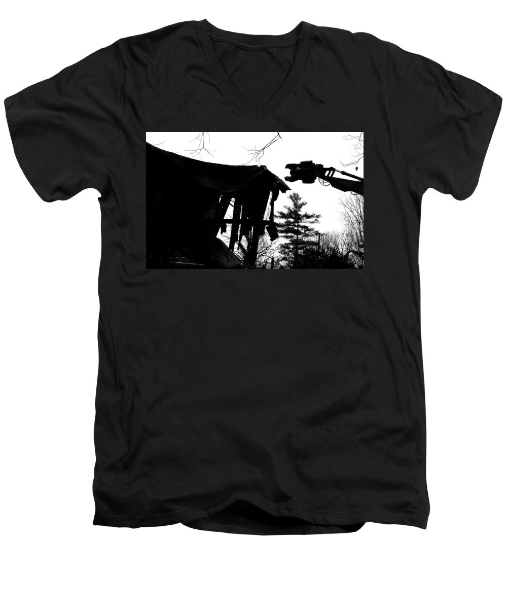 Machine Men's V-Neck T-Shirt featuring the photograph Nessie by Jean Macaluso