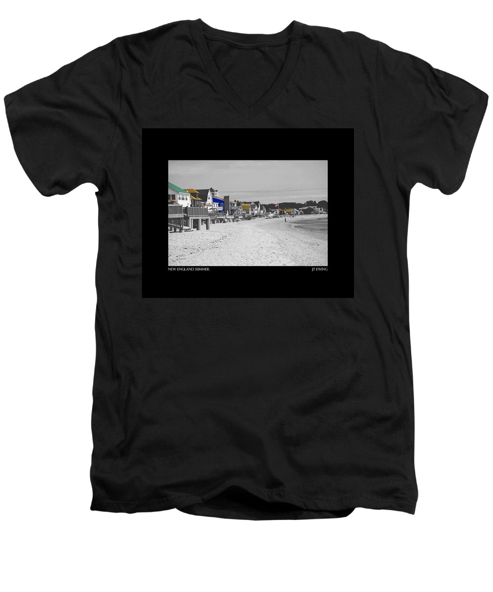 Summer Men's V-Neck T-Shirt featuring the photograph New England Summer by J Todd