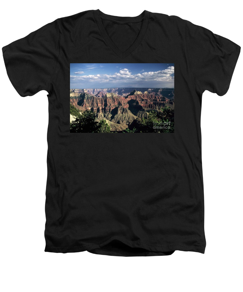 Grand Canyon; National Parks Men's V-Neck T-Shirt featuring the photograph North Rim by Kathy McClure