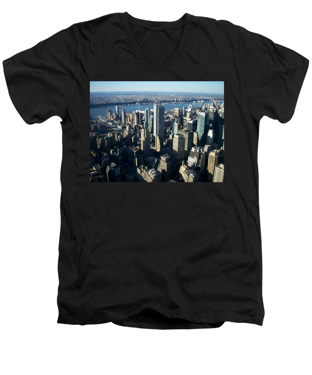 Nyc Men's V-Neck T-Shirt featuring the photograph Nyc 1 by Anita Burgermeister