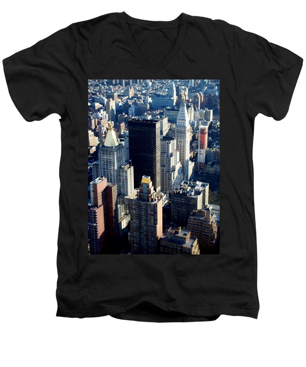 Nyc Men's V-Neck T-Shirt featuring the photograph Nyc 2 by Anita Burgermeister