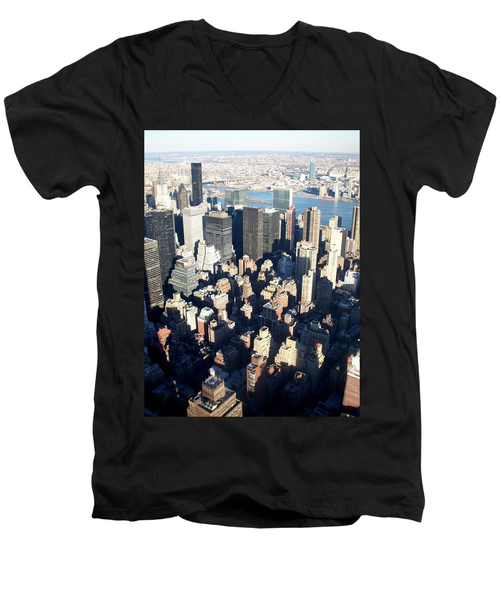 Nyc Men's V-Neck T-Shirt featuring the photograph Nyc 4 by Anita Burgermeister
