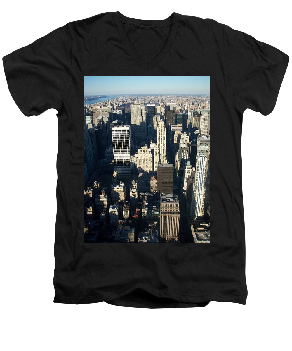 Nyc Men's V-Neck T-Shirt featuring the photograph Nyc 5 by Anita Burgermeister