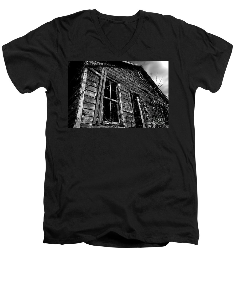 old House Men's V-Neck T-Shirt featuring the photograph Old House by Amanda Barcon