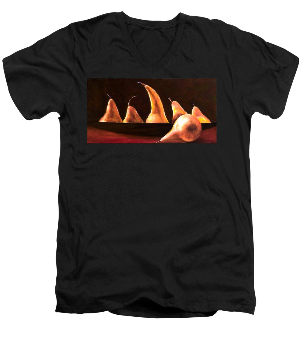 Still Life Men's V-Neck T-Shirt featuring the painting Overboard by Shannon Grissom