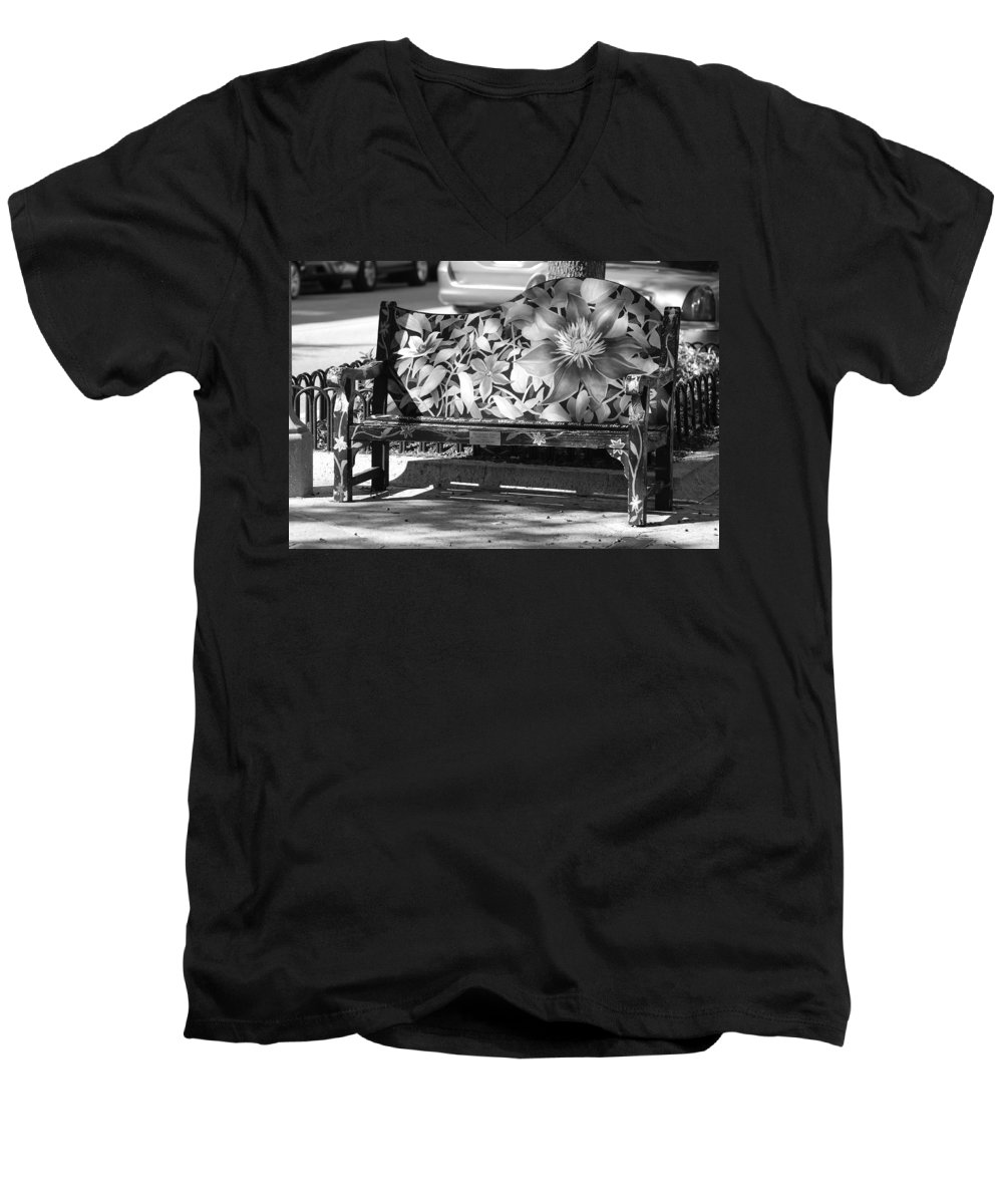 Pop Art Men's V-Neck T-Shirt featuring the photograph Painted Bench by Rob Hans