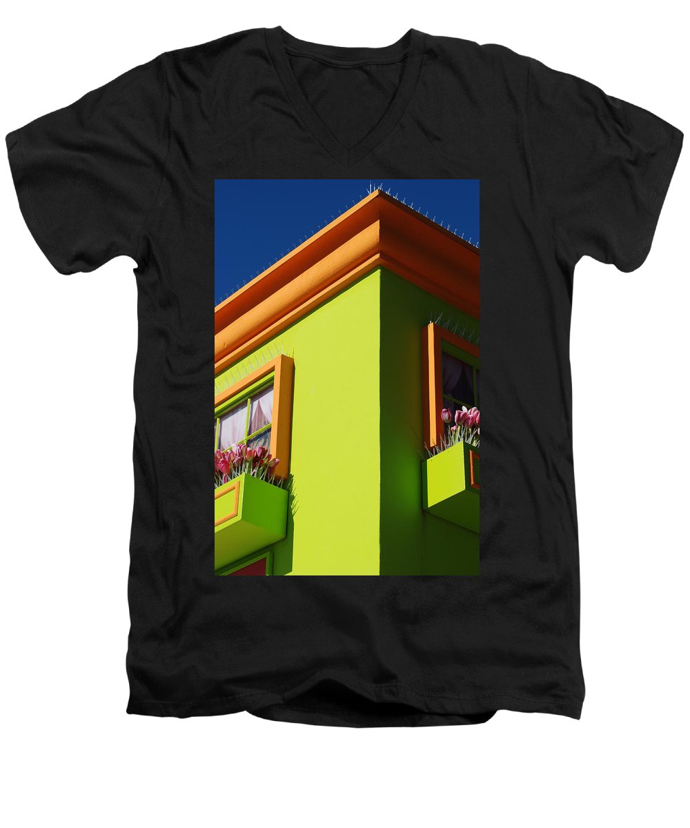 Sky Men's V-Neck T-Shirt featuring the photograph Pastle Corners by Rob Hans