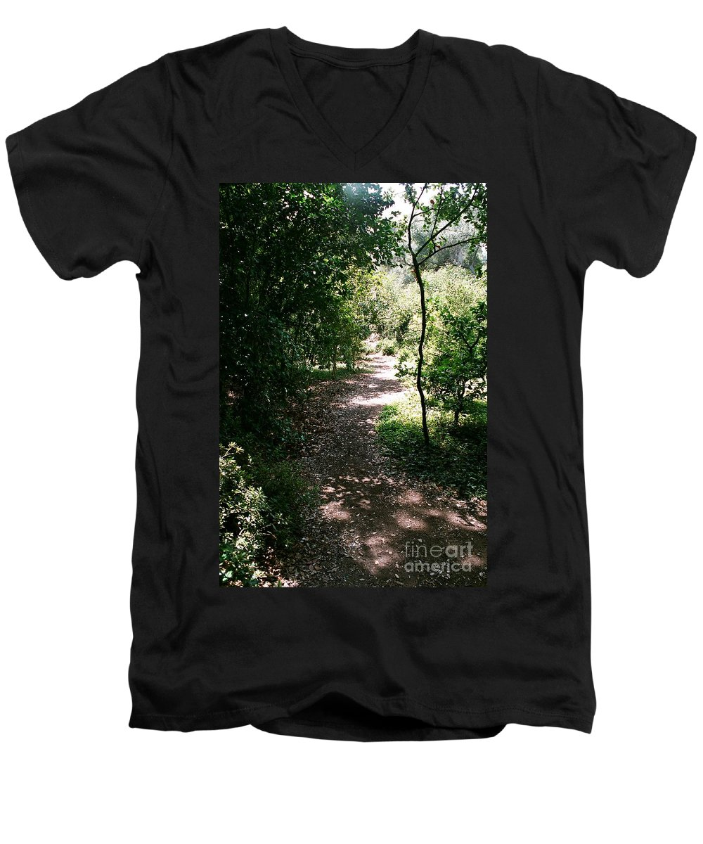 Path Men's V-Neck T-Shirt featuring the photograph Path by Dean Triolo