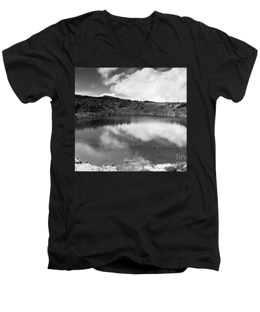 Lake Men's V-Neck T-Shirt featuring the photograph Pau-pique Lake by Gaspar Avila