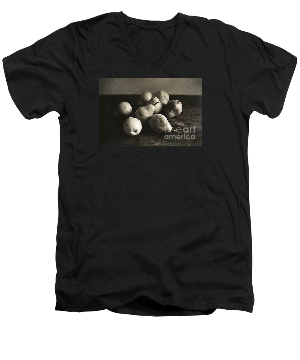 Pears Men's V-Neck T-Shirt featuring the photograph Pears by Michael Ziegler