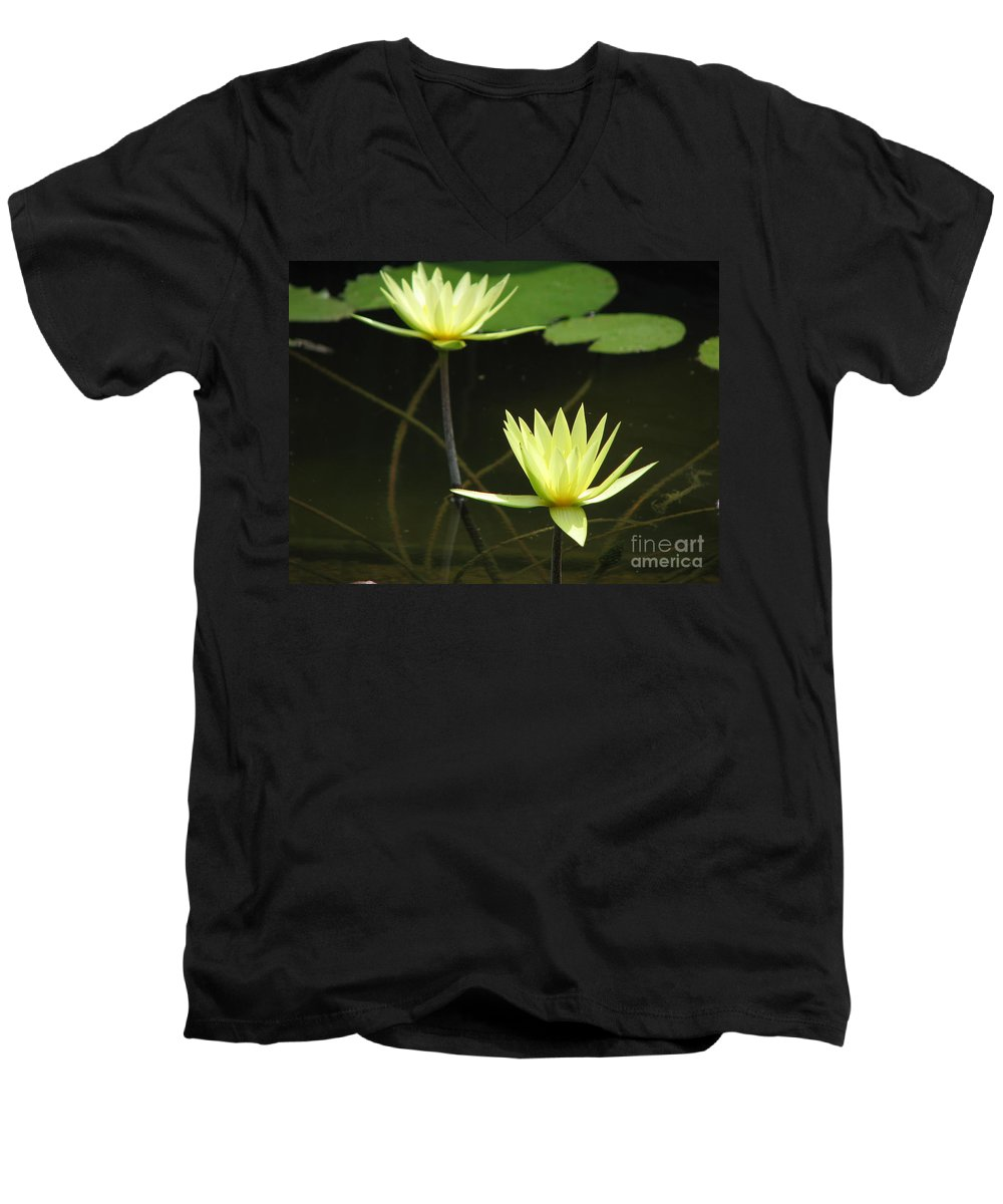 Pond Men's V-Neck T-Shirt featuring the photograph Pond by Amanda Barcon