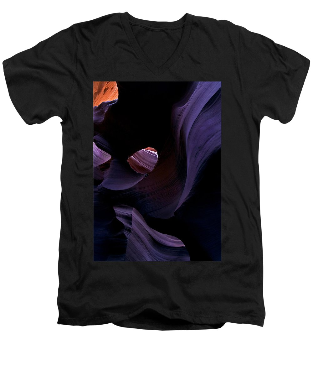 Desert Men's V-Neck T-Shirt featuring the photograph Portal by Mike Dawson