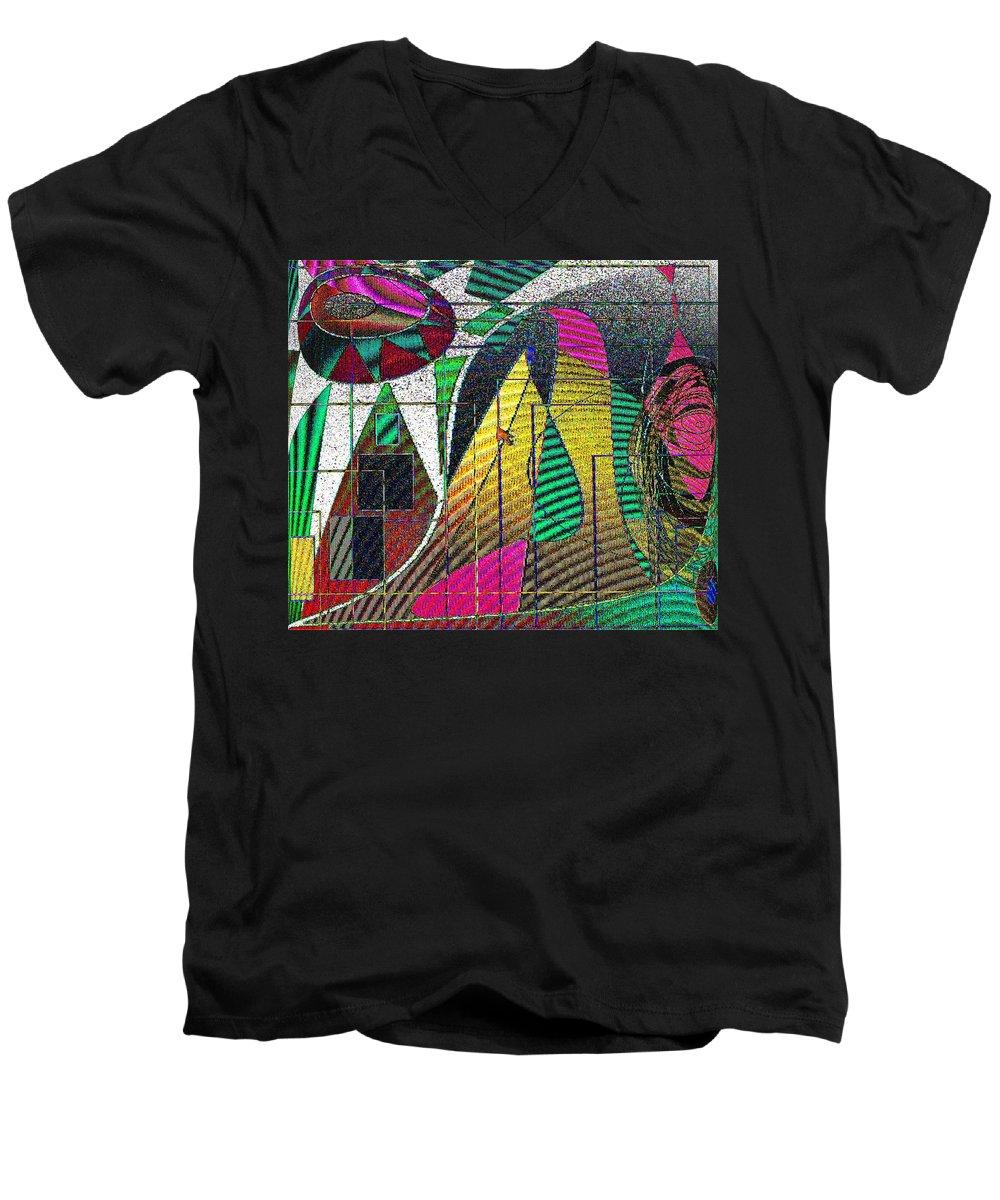 Purple Men's V-Neck T-Shirt featuring the digital art Purple Haze by Ian MacDonald