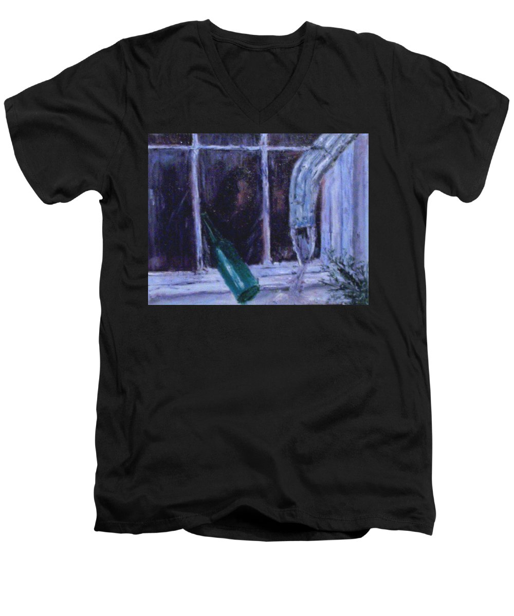 Original Men's V-Neck T-Shirt featuring the painting Rainy Day by Stephen King