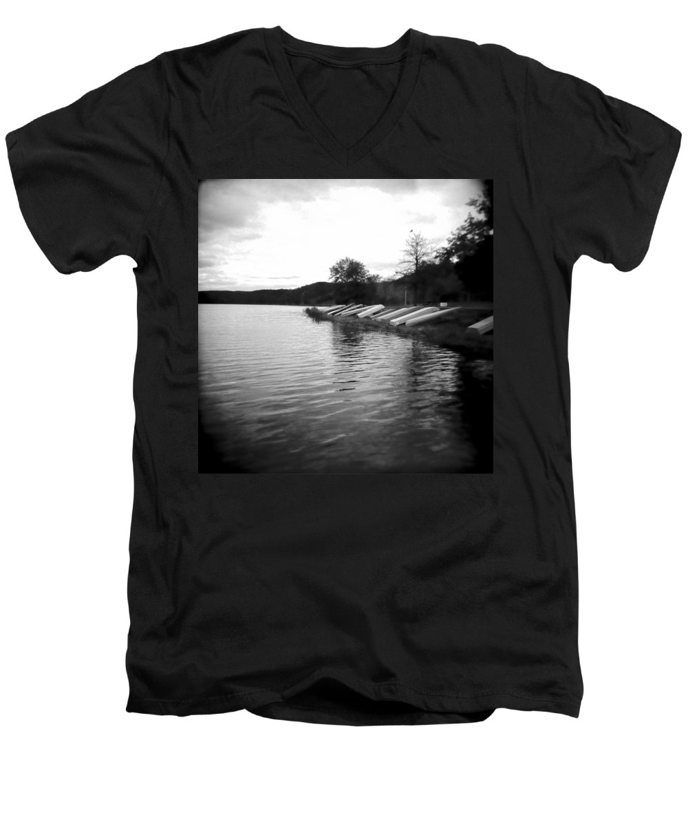 Photograph Men's V-Neck T-Shirt featuring the photograph Ready And Waiting by Jean Macaluso