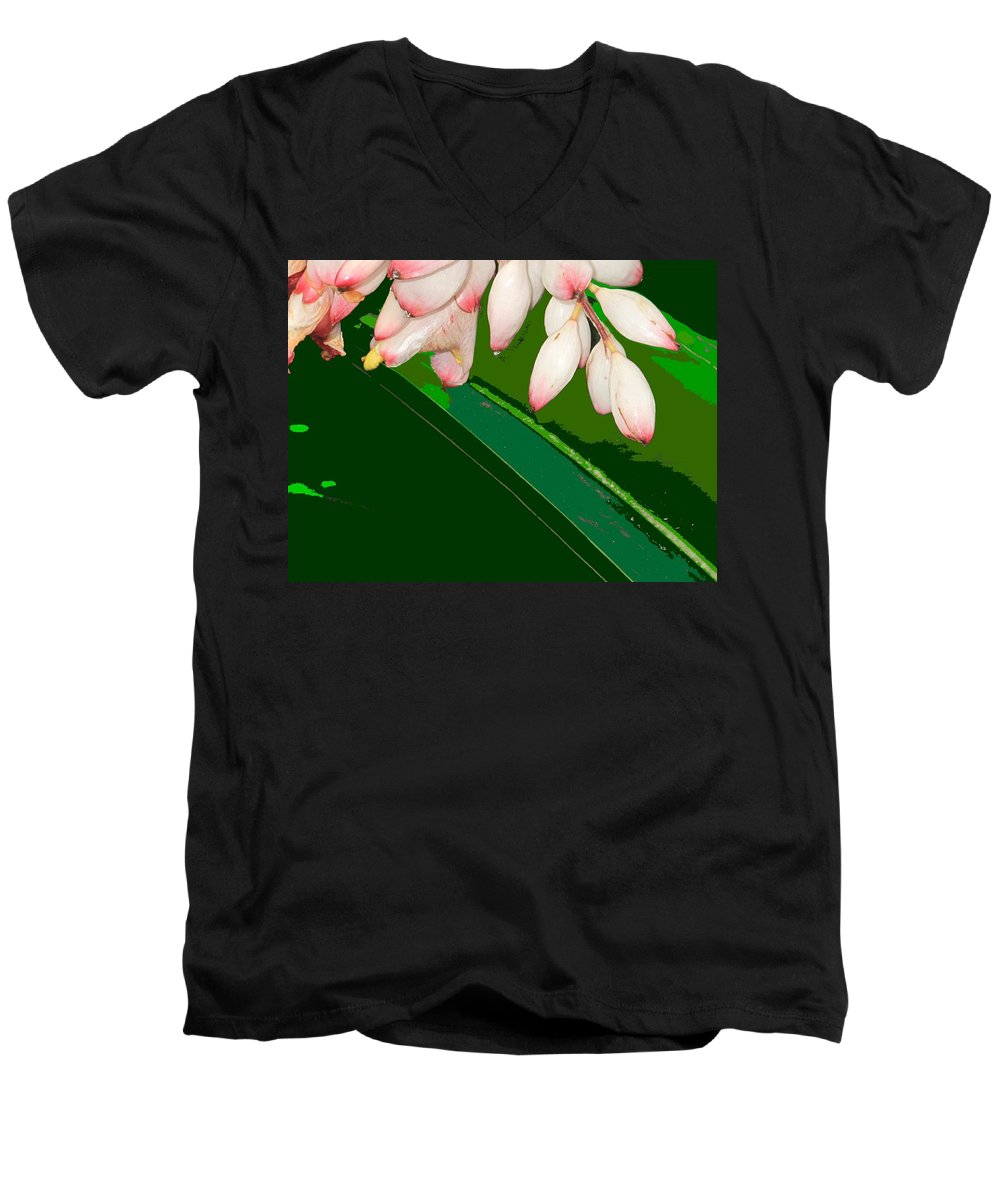 Flowers Men's V-Neck T-Shirt featuring the photograph Romney White by Ian MacDonald
