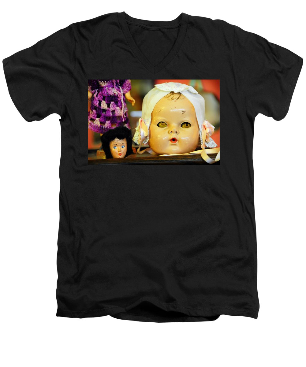 Antique Men's V-Neck T-Shirt featuring the photograph Rumormongers by Skip Hunt