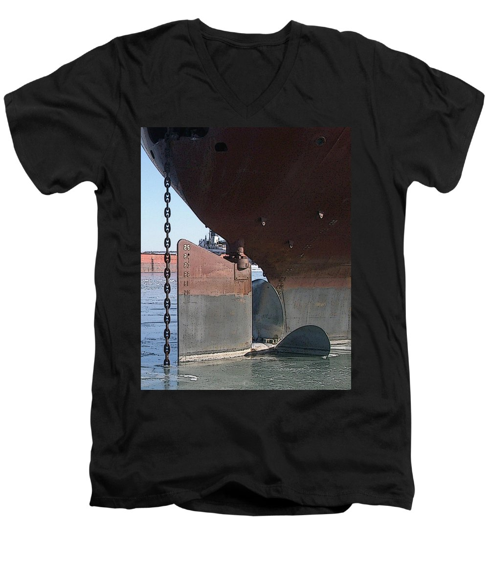 Prop Men's V-Neck T-Shirt featuring the photograph Ryerson Prop by Tim Nyberg