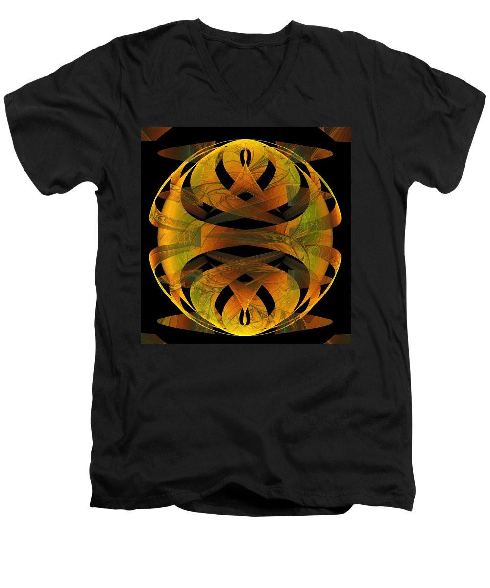 Digital Art Men's V-Neck T-Shirt featuring the digital art Scarab by Amanda Moore