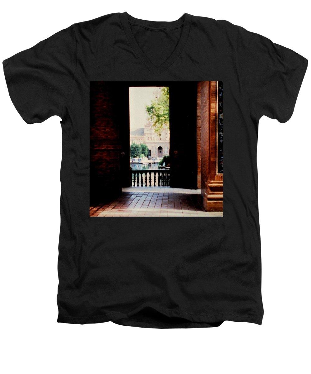 Seville Men's V-Neck T-Shirt featuring the photograph Seville by Ian MacDonald