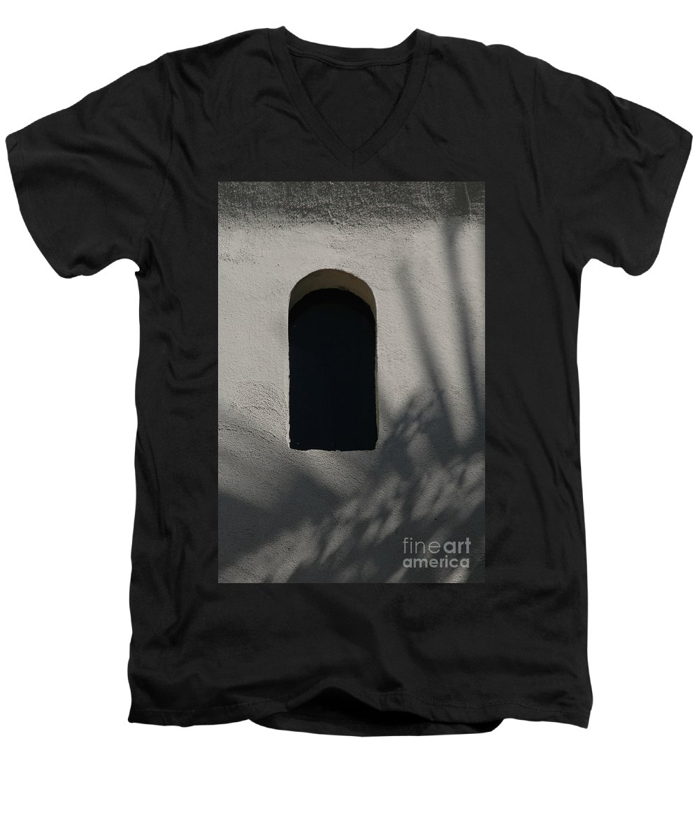 Window Men's V-Neck T-Shirt featuring the photograph Shadows On The Wall by Michael Ziegler