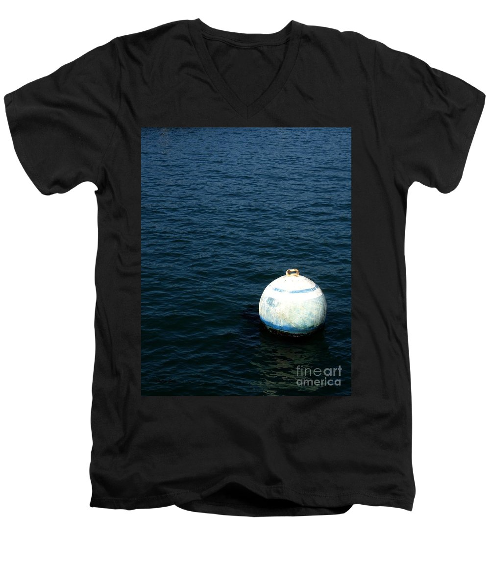 Seascape Men's V-Neck T-Shirt featuring the photograph Sit And Bounce by Shelley Jones