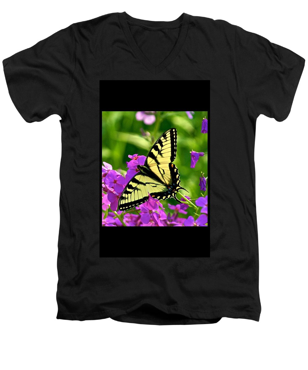 Butterfly Men's V-Neck T-Shirt featuring the photograph Spring Glory by Robert Pearson