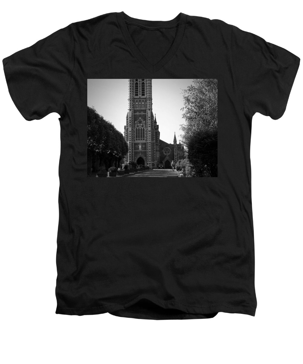 Irish Men's V-Neck T-Shirt featuring the photograph St. John's Church Tralee Ireland by Teresa Mucha
