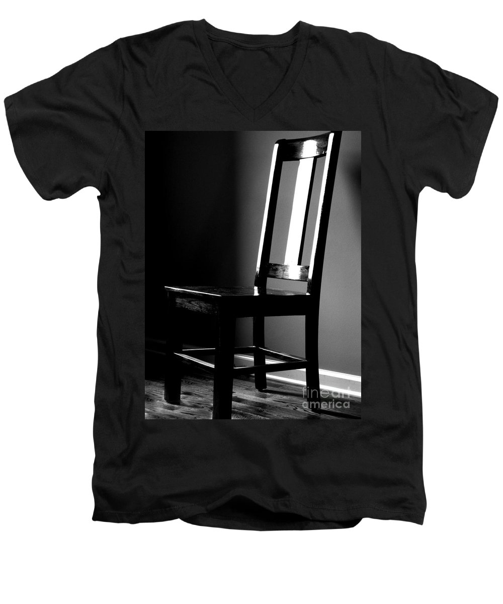 Stillness Men's V-Neck T-Shirt featuring the photograph Still by Amanda Barcon