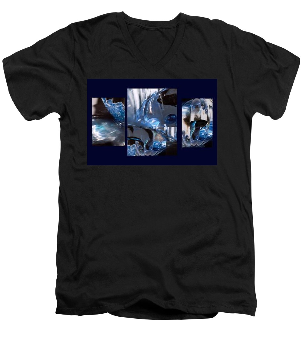 Abstract Of Betta In A Bowl Men's V-Neck T-Shirt featuring the photograph Swirl by Steve Karol