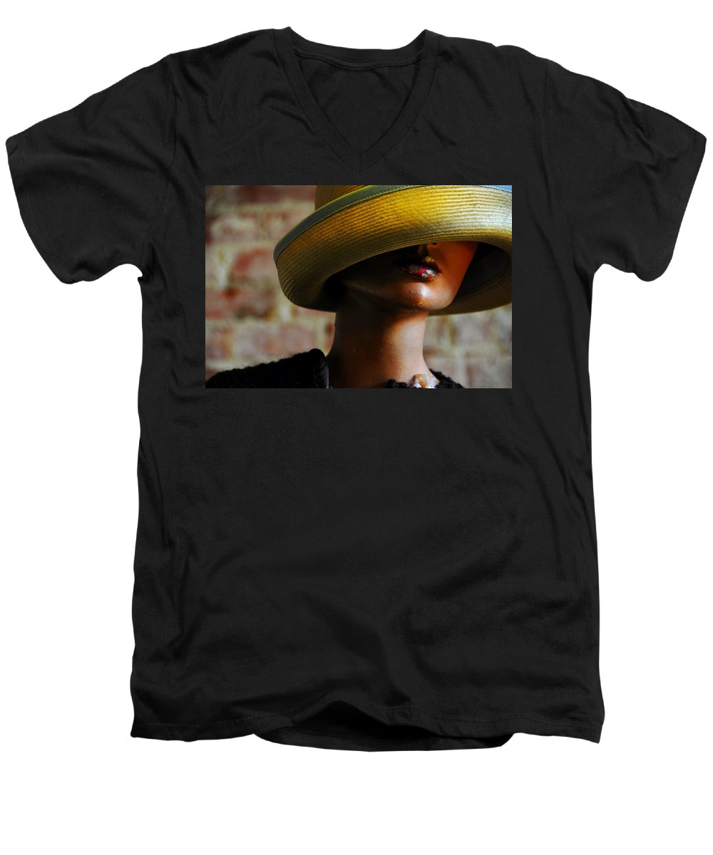 Aged Men's V-Neck T-Shirt featuring the photograph Tel Aviv by Skip Hunt