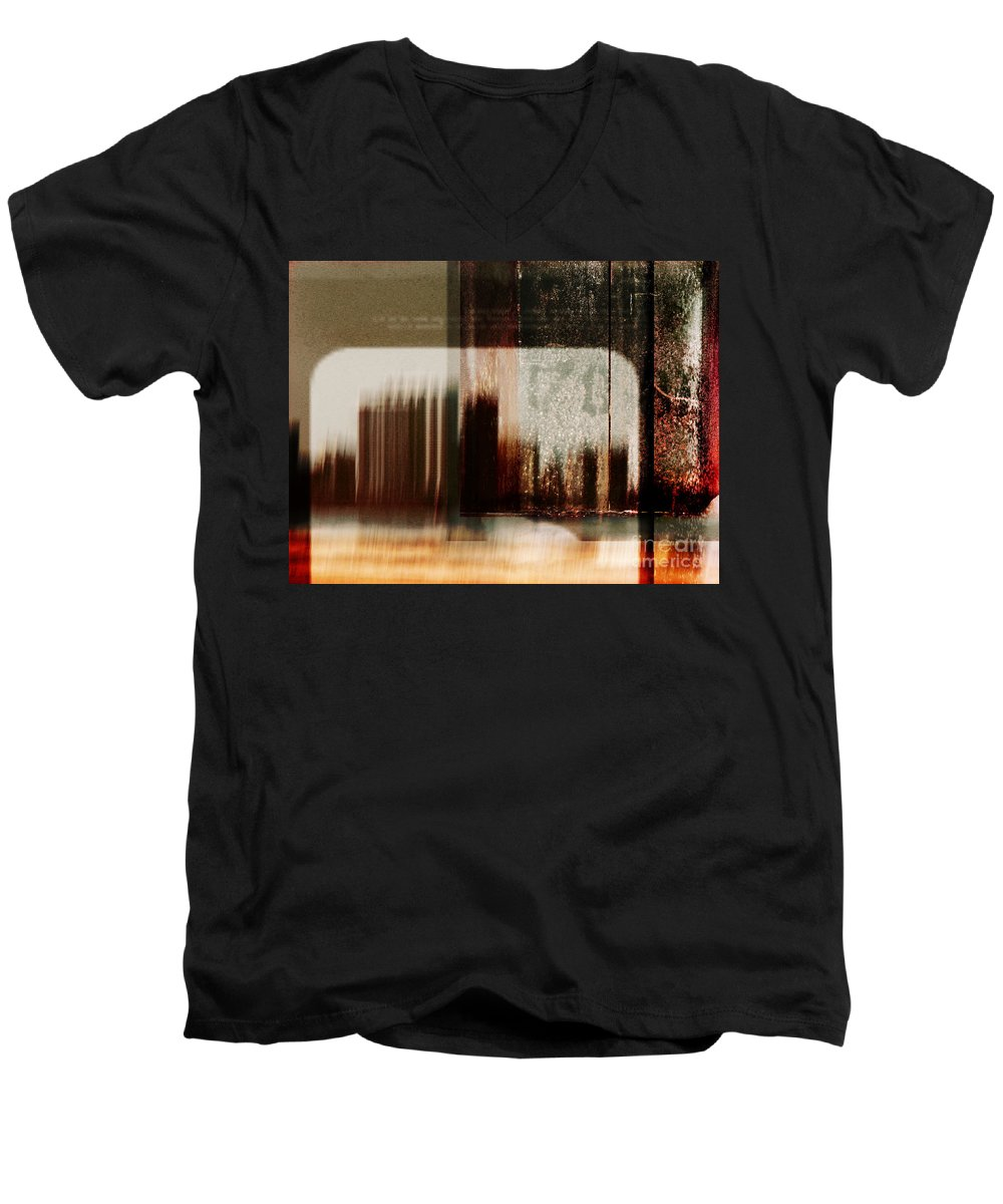 Dipasquale Men's V-Neck T-Shirt featuring the photograph That Day In The City When We Lost Track Of Time by Dana DiPasquale