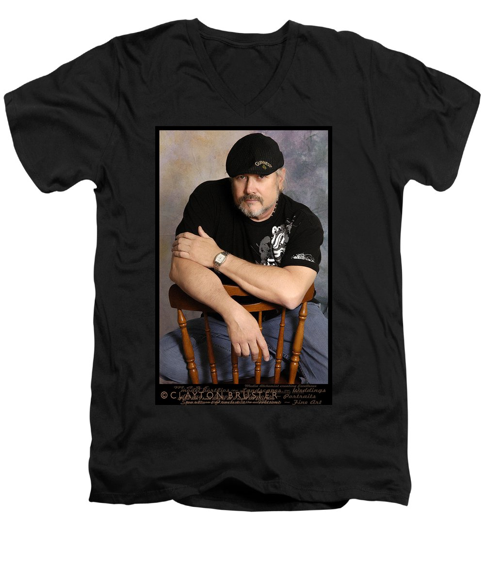 Clay Men's V-Neck T-Shirt featuring the photograph The Artist by Clayton Bruster