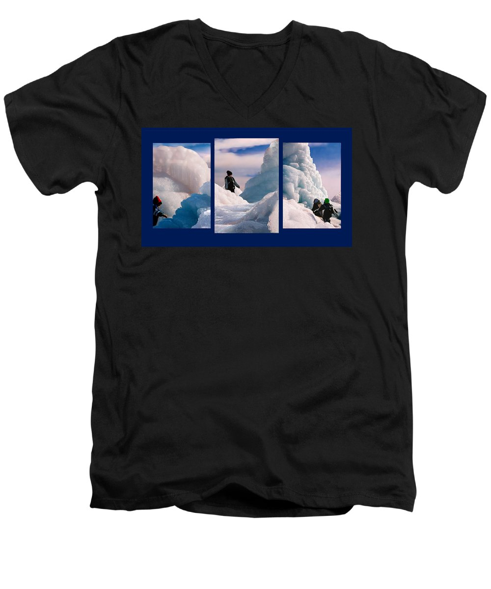 Landscape Men's V-Neck T-Shirt featuring the photograph The Explorers by Steve Karol
