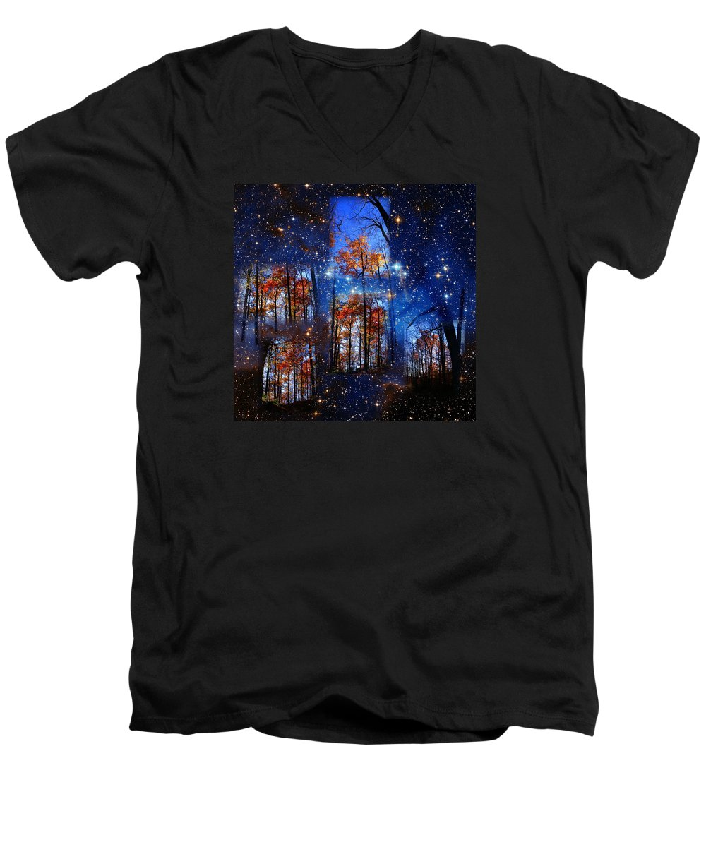 Deep Space Men's V-Neck T-Shirt featuring the photograph The Face Of Forever by Dave Martsolf