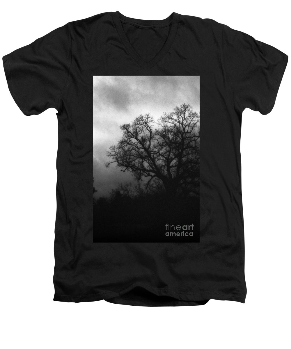 Eerie Men's V-Neck T-Shirt featuring the photograph The Other Side by Richard Rizzo