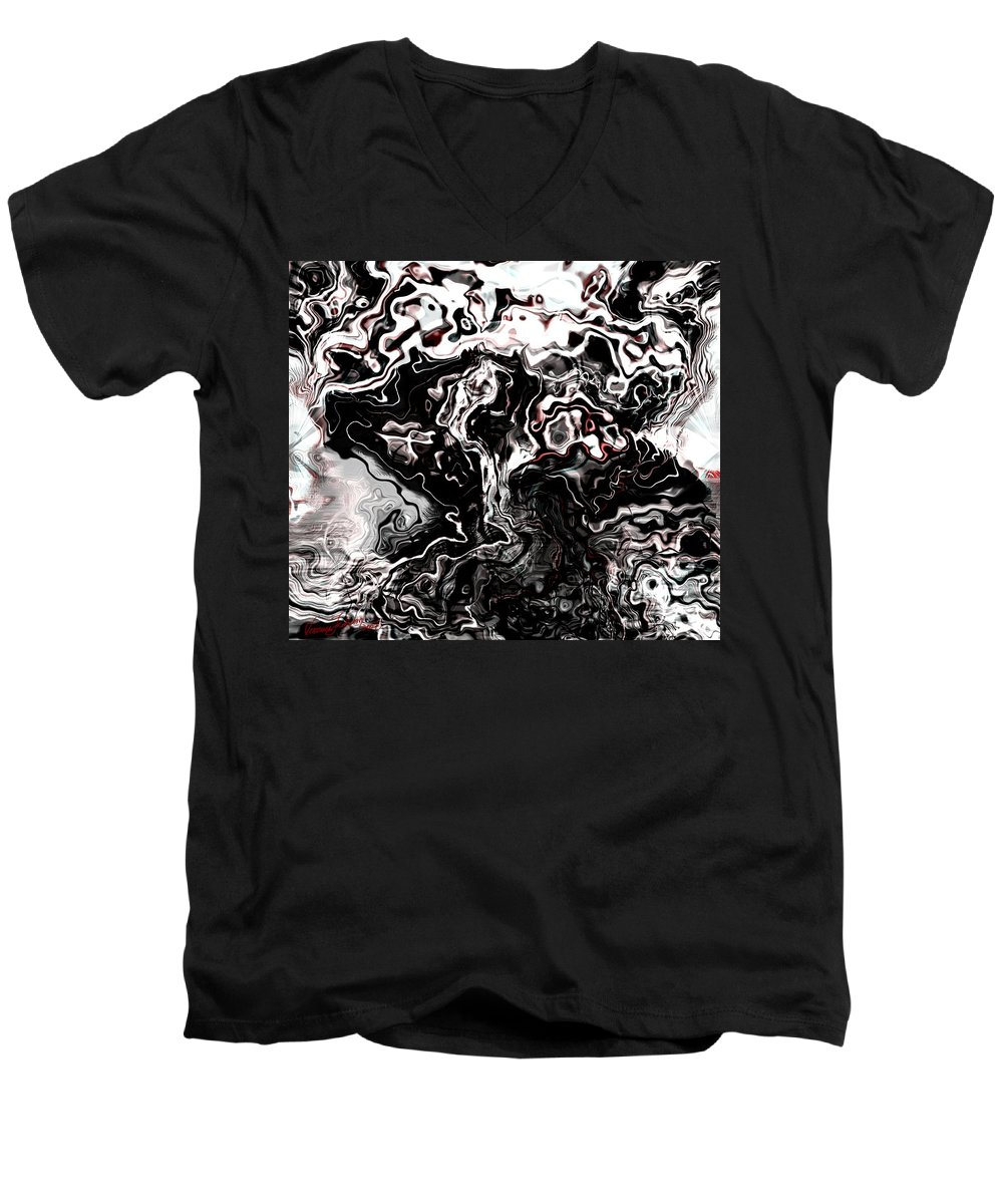 Storm Wind Clouds Nature Wind Men's V-Neck T-Shirt featuring the digital art The Storm by Veronica Jackson