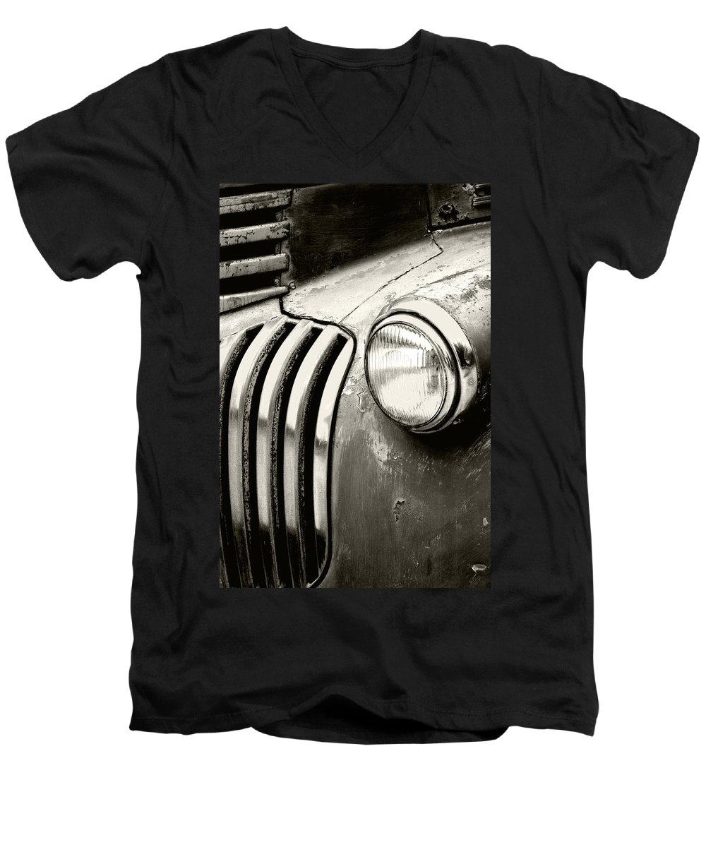 Cars Men's V-Neck T-Shirt featuring the photograph Time Traveler by Holly Kempe