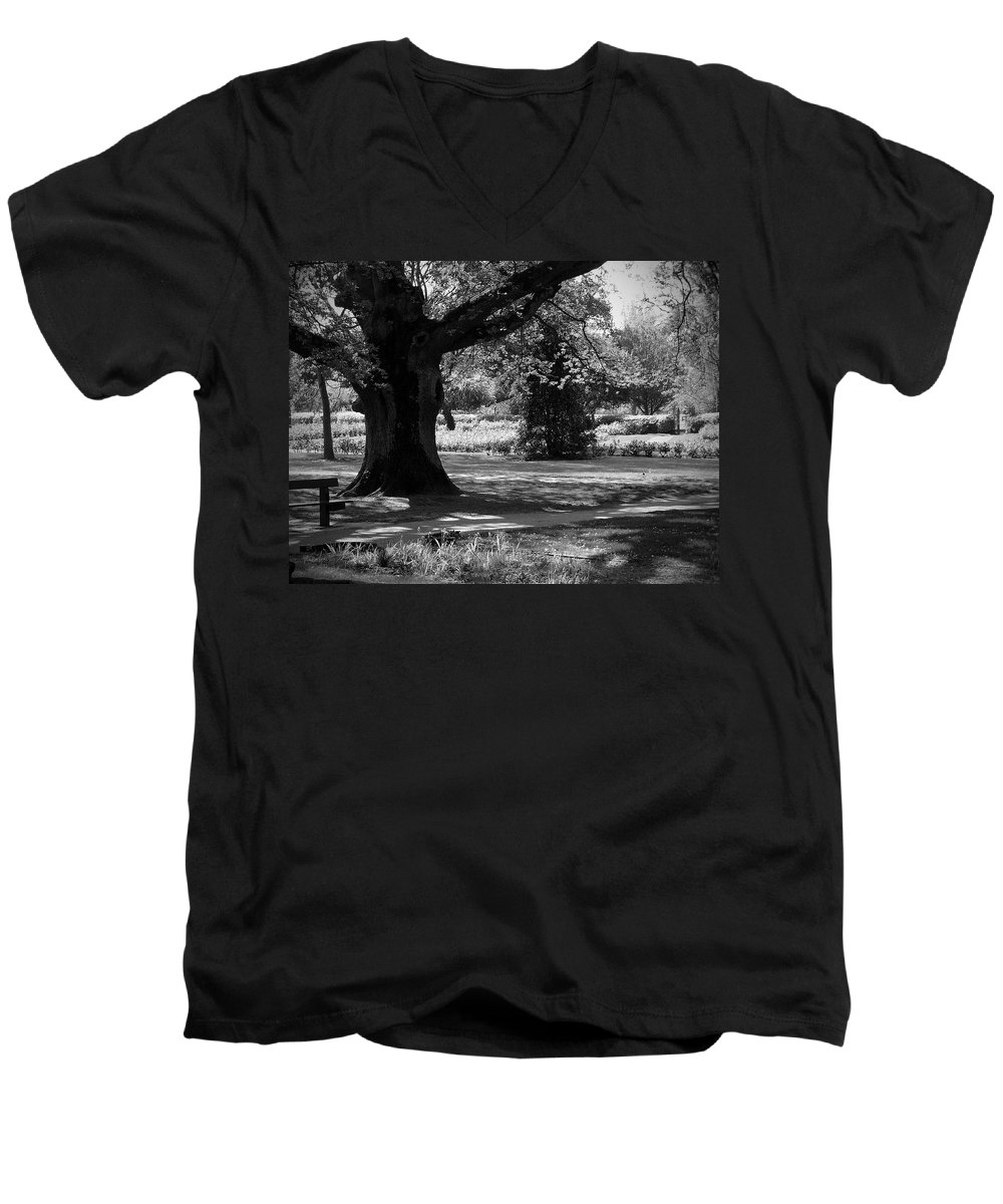 Irish Men's V-Neck T-Shirt featuring the photograph Tralee Town Park Ireland by Teresa Mucha