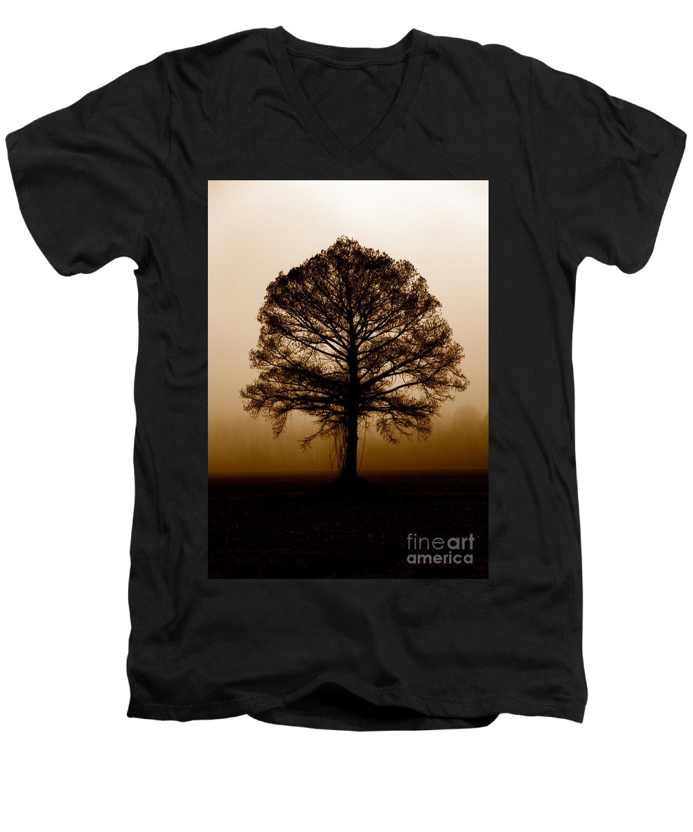 Trees Men's V-Neck T-Shirt featuring the photograph Tree by Amanda Barcon