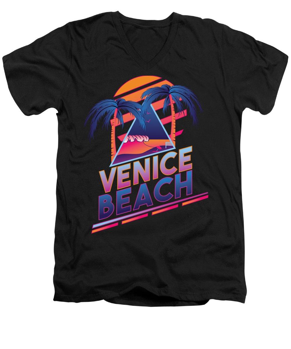 Venice Beach V-Neck T-Shirts