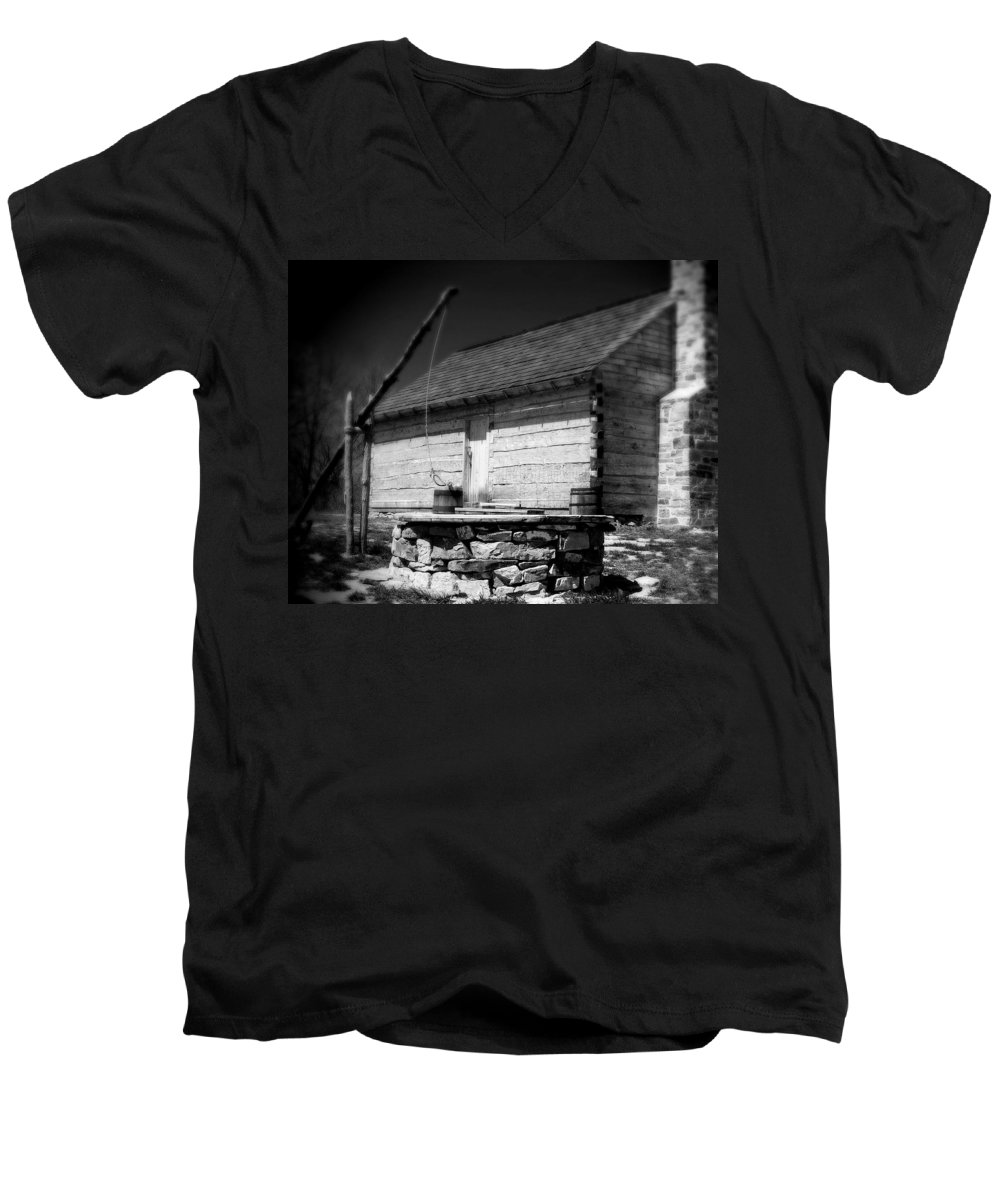 Army Men's V-Neck T-Shirt featuring the photograph Way Station French And Indian War by Jean Macaluso