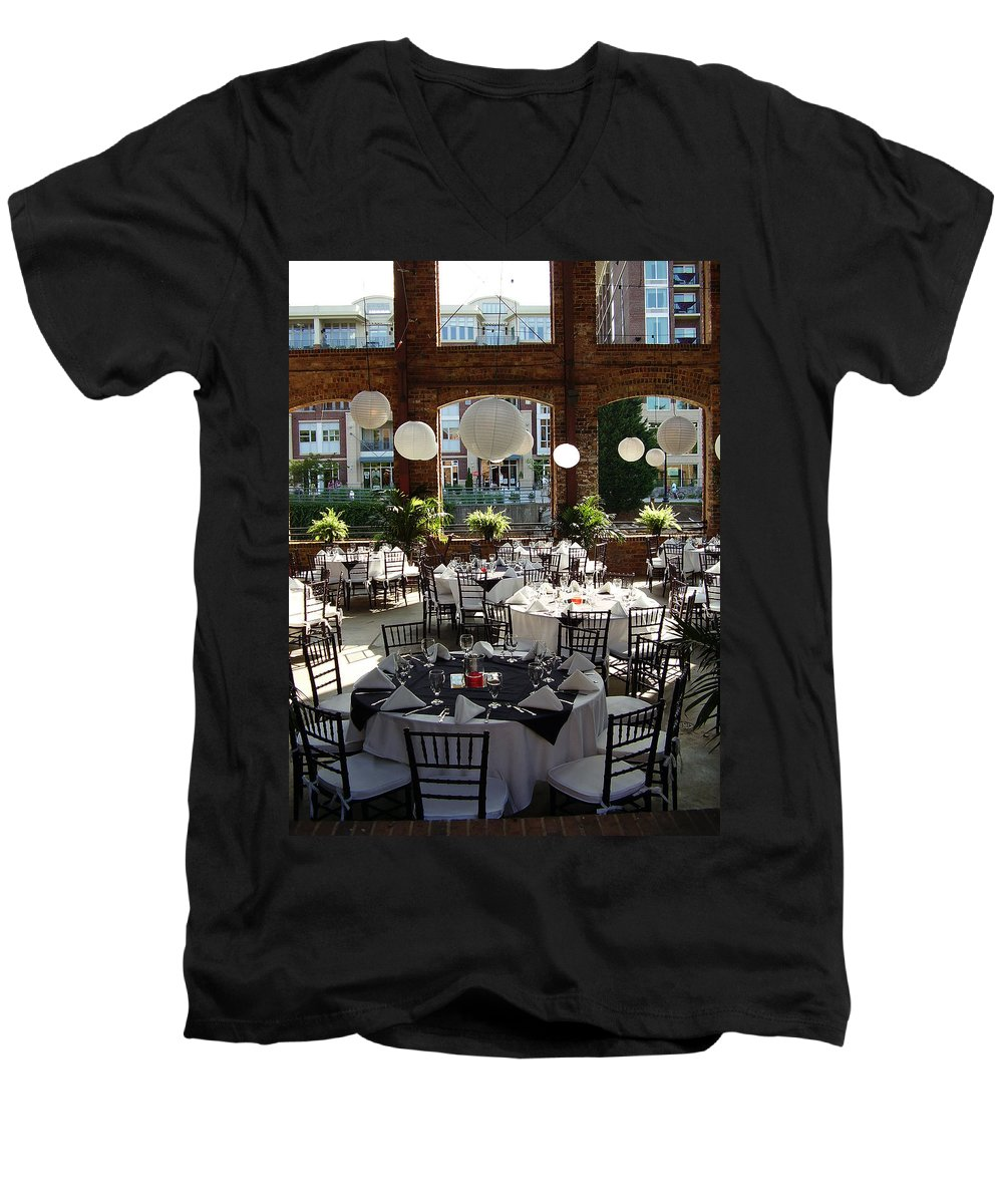 Markley Carriage Men's V-Neck T-Shirt featuring the photograph Wedding by Flavia Westerwelle