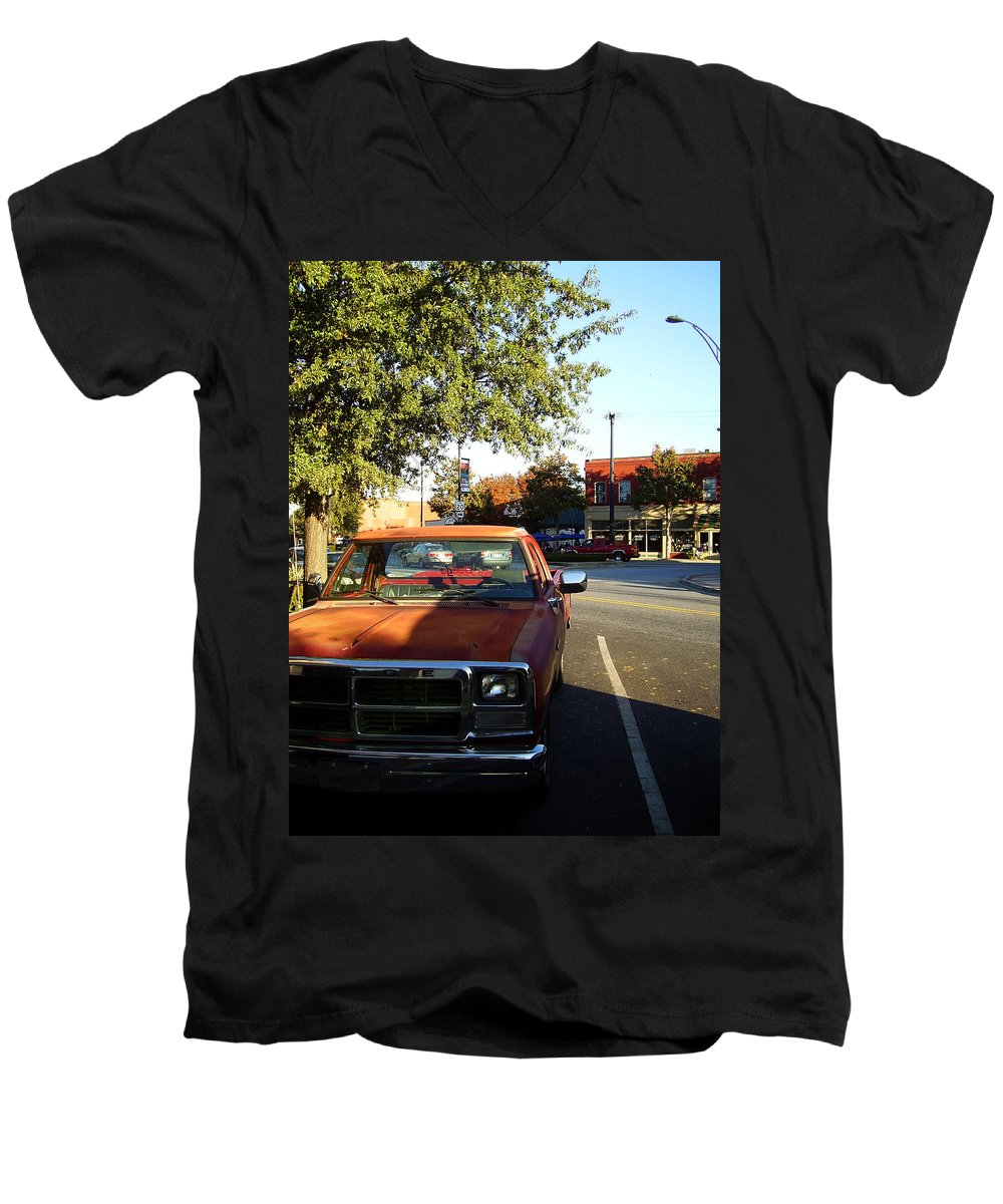West End Men's V-Neck T-Shirt featuring the photograph West End by Flavia Westerwelle