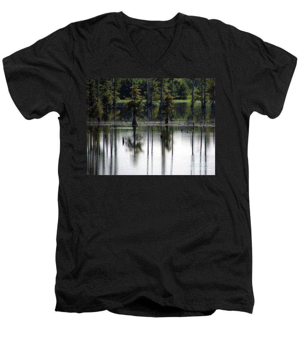 Wetlands Men's V-Neck T-Shirt featuring the photograph Wetland by Amanda Barcon