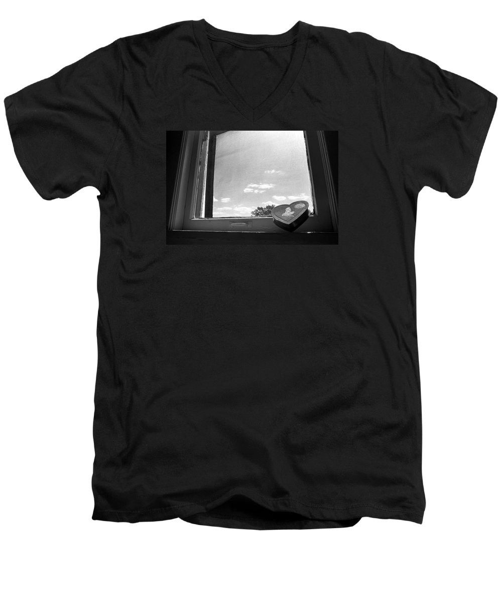 Window Men's V-Neck T-Shirt featuring the photograph What Remains by Ted M Tubbs
