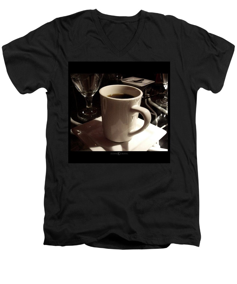 White Men's V-Neck T-Shirt featuring the photograph White Cup by Tim Nyberg