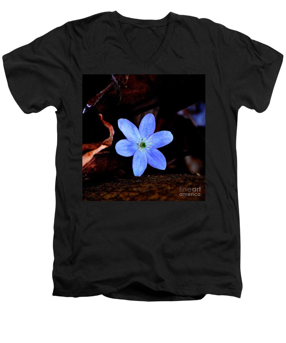 Digital Photo Men's V-Neck T-Shirt featuring the photograph Wild Blue by David Lane